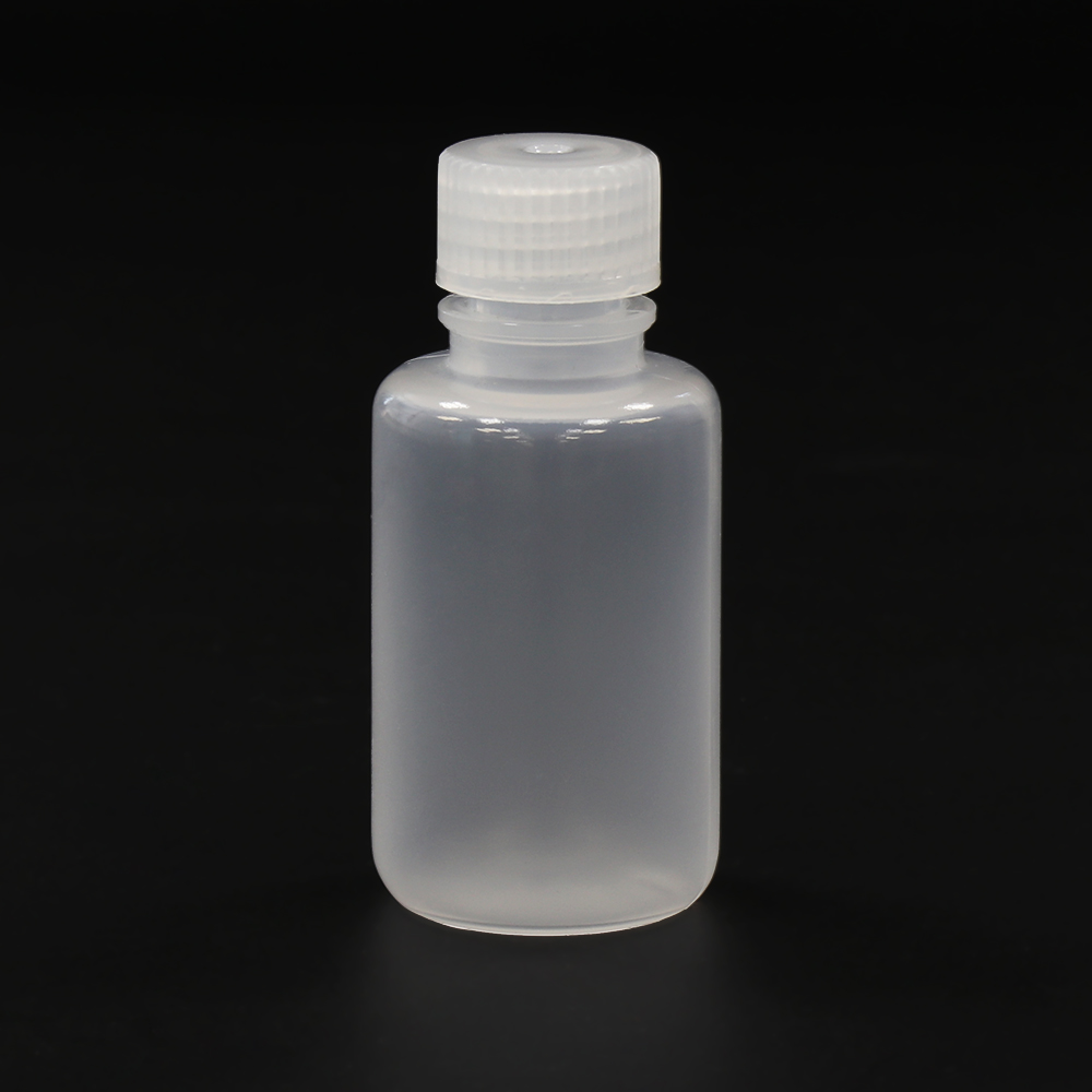 ULAB Scientific Narrow-Mouth Plastic Round Bottles and Pipette Set, 12pcs of Bottles, Natural Color, Cap.60ml, 100pcs of Pasteur Pipette Offered, LDPE Material, Cap.7ml/155mm Long, URB1003